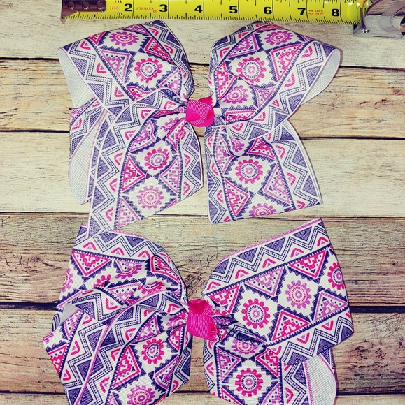 Other - Large hairbow alligator clip pink 2 pack